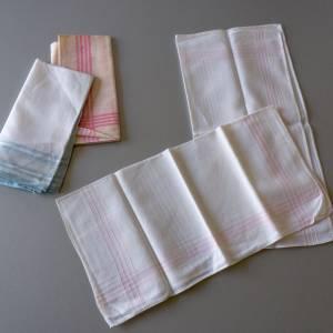 Vintage Taschentücher, alte Stofftaschentücher, benutzt, guter Vintage-Zustand, Taschentücher, 1960er Jahre, Baumwollsto Bild 3