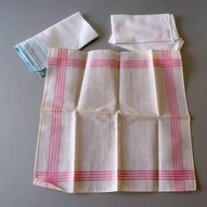 Vintage Taschentücher, alte Stofftaschentücher, benutzt, guter Vintage-Zustand, Taschentücher, 1960er Jahre, Baumwollsto Bild 4