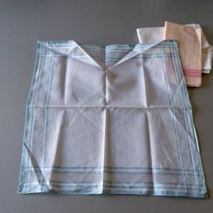 Vintage Taschentücher, alte Stofftaschentücher, benutzt, guter Vintage-Zustand, Taschentücher, 1960er Jahre, Baumwollsto Bild 5