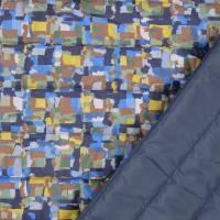 Steppstoff Stepper grafisches Muster bunt wattiert (1m/10,-€)  Bild 1