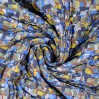 Steppstoff Stepper grafisches Muster bunt wattiert (1m/10,-€)  Bild 2