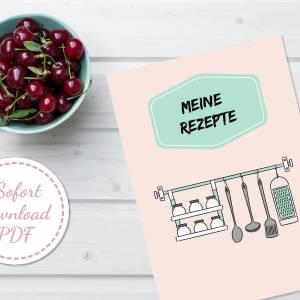 Set: Menüplaner, Rezeptsammlung und Einkaufsliste, insgesamt 6 Seiten zum ausfüllen, PDF Download Bild 3