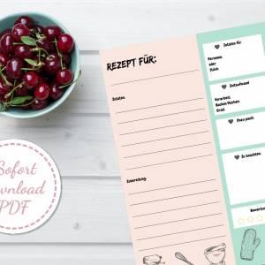 Set: Menüplaner, Rezeptsammlung und Einkaufsliste, insgesamt 6 Seiten zum ausfüllen, PDF Download Bild 4