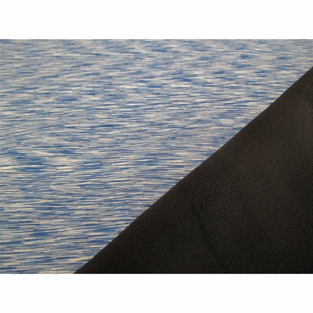 Softshell Melange mit Fleece -  Abseite blau ( 1m/12,00€ ) Bild 1