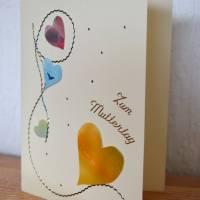 Zauberhafte Karte mit Herz zum Muttertag Bild 2