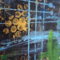 Modernes zweiteiliges Acrylgemälde Stadt bei Nacht | original Kunstwerk bunt | abstrakte Kunst auf Leinwand 50x80cm Bild 6