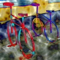 Bicycles - Digital-ART - Kunstwerk 2/10 – Design  Ulrike Kröll Bild 1