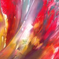 Ein Vogelpärchen – Original Encausticmalerei, gerahmt Bild 2