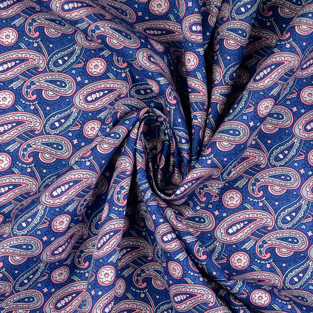 Baumwolle Baumwollstoff Popeline  Paisley Oeko-Tex Standard 100 (1m /10,-€) Bild 1