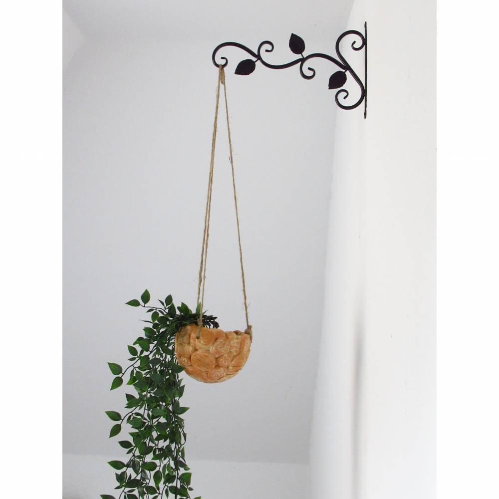 Blumenampel aus Keramik Vase Blumentopf Wohnaccessoires Gartendekoration  Bild 1