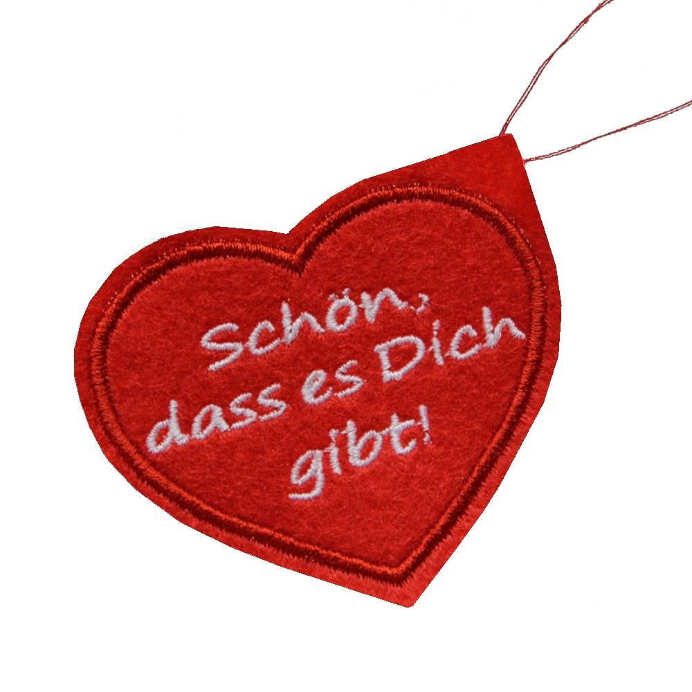 Geschenkanhänger Geburtstag Herz Deko Filz Anhänger  Bild 1