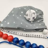 Rechenkette ABC-Kette zur Einschulung mit Geschenkbeutel und Namensbutton Bild 5