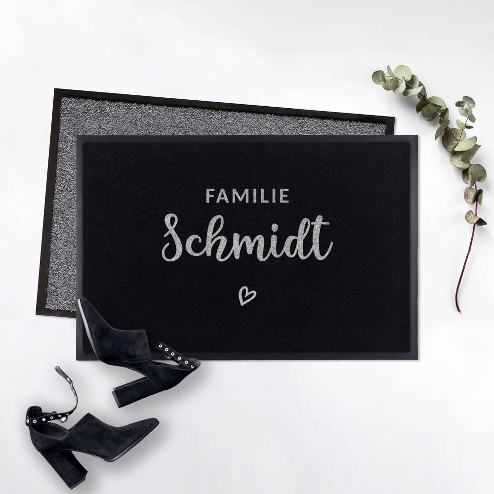 Outdoor Fußmatte Familie • Rutschfest & Waschbar • Personalisiert mit Familienname o. Wunschtext Bild 1