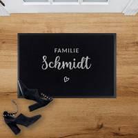 Outdoor Fußmatte Familie • Rutschfest & Waschbar • Personalisiert mit Familienname o. Wunschtext Bild 2