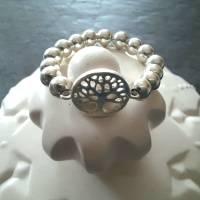 Silberring Perlenring mit Baum des Lebens, 925 Silber  Bild 4