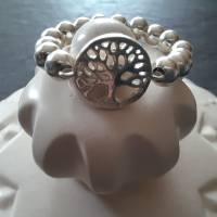 Silberring Perlenring mit Baum des Lebens, 925 Silber  Bild 5