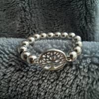 Silberring Perlenring mit Baum des Lebens, 925 Silber  Bild 6