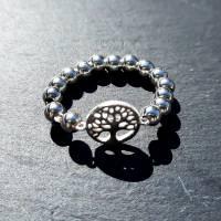 Silberring Perlenring mit Baum des Lebens, 925 Silber  Bild 7