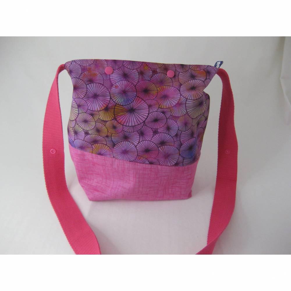 Umhängebeutel klein in pink für den Sommer aus Baumwolle  Bild 1