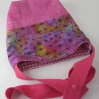 Umhängebeutel klein in pink für den Sommer aus Baumwolle  Bild 2