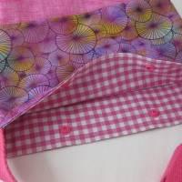 Umhängebeutel klein in pink für den Sommer aus Baumwolle  Bild 3