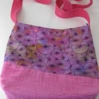 Umhängebeutel klein in pink für den Sommer aus Baumwolle  Bild 4