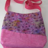 Umhängebeutel klein in pink für den Sommer aus Baumwolle  Bild 5