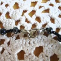 Vintage Halskette - Black & Grey - aus den 80er Jahren Bild 9