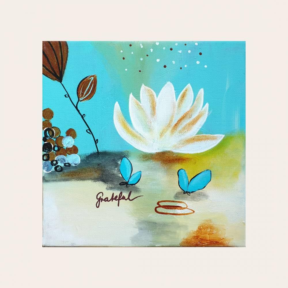 """""""Grateful"""" 20 x 20 cm Acrylbild  Bild 1"""