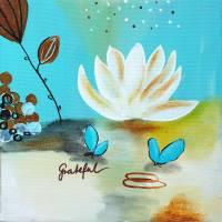 """""""Grateful"""" 20 x 20 cm Acrylbild  Bild 2"""