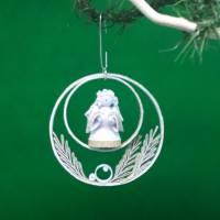 Quilling Engel, Papierkunst zu Weihnachten, Dekorativer Anhänger, Geschenk Bild 1