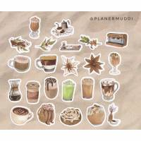 "Sticker-Set ""Cafè"", 23-teilig  Bild 1"