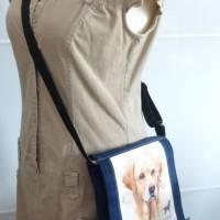Jeanstasche Yellow Labrador, Gassitasche, Upcycling-Unikat hessmade, individualisierbar Bild 6
