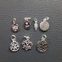 Stylisches Armband oder Fußkettchen mit Charm Blume des Lebens, 925 Silber Bild 8