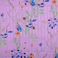 Chiffon mit Lurex Streifen Frühlings-/Sommerstoff  flieder (1m/10,-€) Bild 2