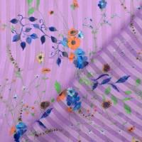 Chiffon mit Lurex Streifen Frühlings-/Sommerstoff  flieder (1m/10,-€) Bild 3