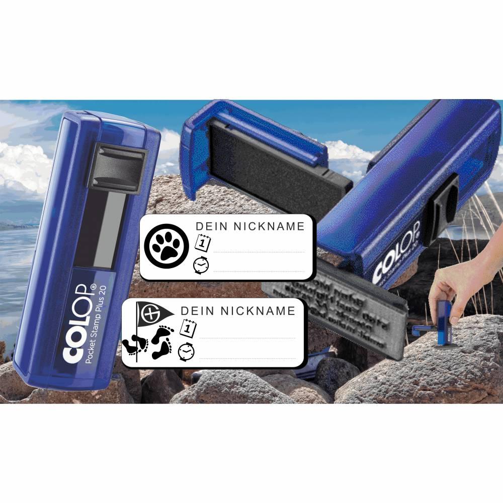 Geocaching Logging Stempel Geocachstempel Geocachingstempel Colop PocketStamp plus Bild 1