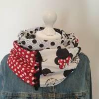 TaBo Loop Baumwolle  rot/schwarz/weiß Dots Maus Frühjahr/Sommer Bild 1