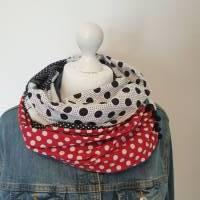 TaBo Loop Baumwolle  rot/schwarz/weiß Dots Maus Frühjahr/Sommer Bild 2