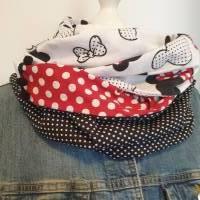 TaBo Loop Baumwolle  rot/schwarz/weiß Dots Maus Frühjahr/Sommer Bild 4