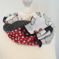 TaBo Loop Baumwolle  rot/schwarz/weiß Dots Maus Frühjahr/Sommer Bild 6
