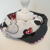 TaBo Loop Baumwolle  rot/schwarz/weiß Dots Maus Frühjahr/Sommer Bild 7