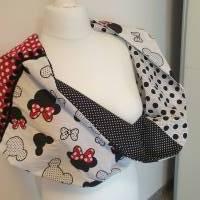 TaBo Loop Baumwolle  rot/schwarz/weiß Dots Maus Frühjahr/Sommer Bild 8