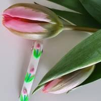 """Wunderschöne Haarklammer """"Rosa Tulpen"""" Bild 1"""