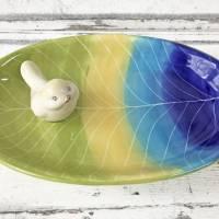 Vogeltränke/Schale mit Vögelchen aus Keramik , handbemalt Bild 1