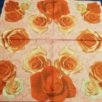 3 Servietten / Motivservietten / rote Rosen  / Rosenblüten  Blumen B 73 Bild 1