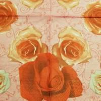 3 Servietten / Motivservietten / rote Rosen  / Rosenblüten  Blumen B 73 Bild 2