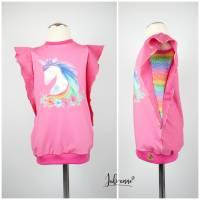 """Sommer Shirt """"Birdee"""" mit coolen Flügelärmeln Panel Einhorn Pink Bild 1"""