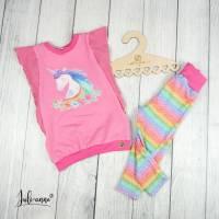 """Sommer Shirt """"Birdee"""" mit coolen Flügelärmeln Panel Einhorn Pink Bild 2"""