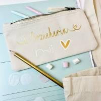 Stiftemäppchen personalisiert - Erzieherin, Tagesmutter, Kitaleitung mit Herz Bild 5